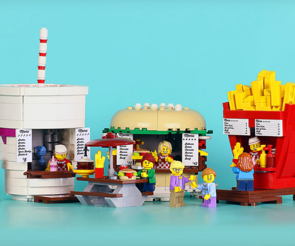 LEGO Food Stands Look Good Enough to Eat