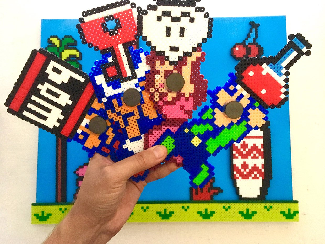 Build Your Own Level With This Magnetic Super Mario Bros 2 Pixel