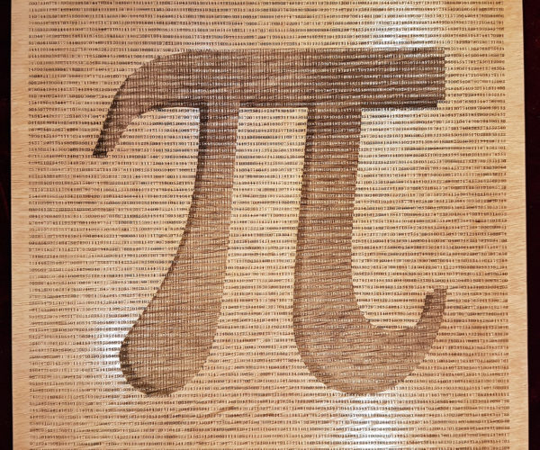 This Wooden Poster Counts Pi to 16,500 Digits: Pi r Rectangular