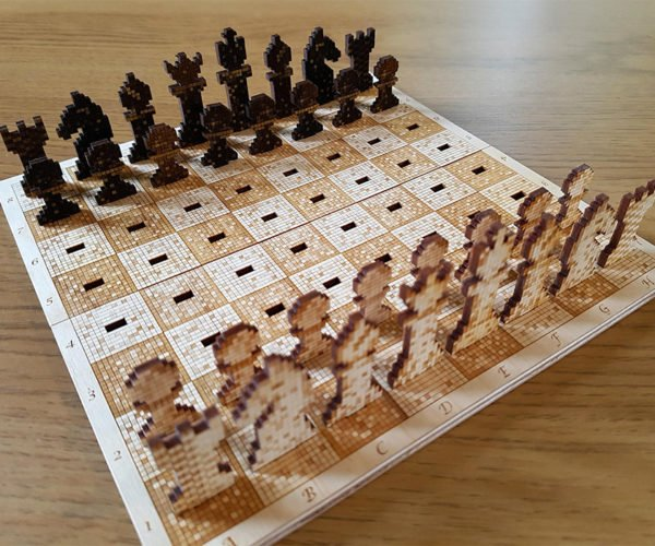 This 8-Bit Chess Set is Pixel Perfect