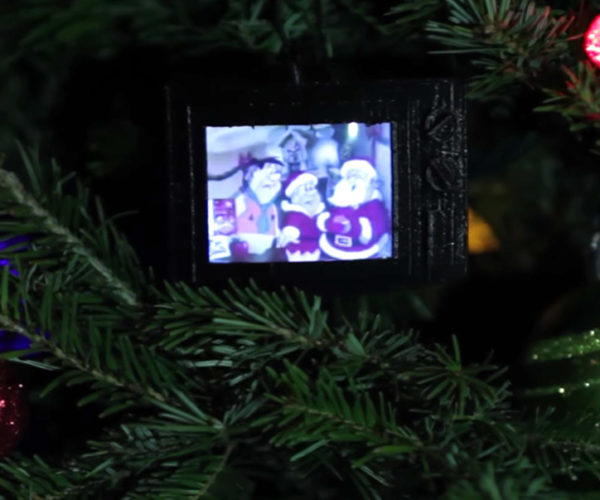 Build a TV Christmas Ornament That Plays Classic Commercials