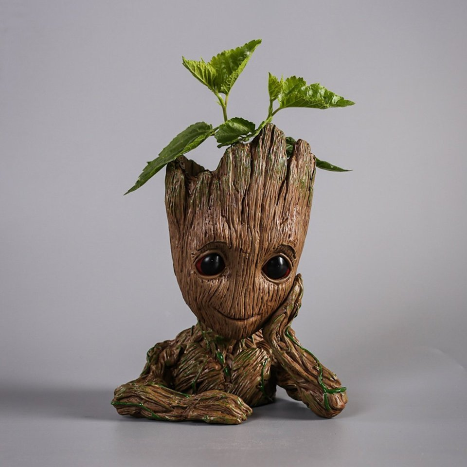 Look Up Vin >> Baby Groot Flower Pot Takes Root - Technabob