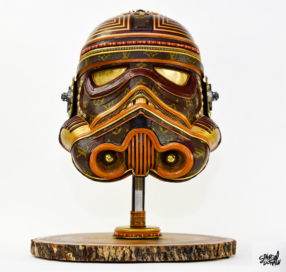 Artist Gabriel Dishaw takes used Louis Vuitton purses and bags and transforms  them into awesome Star Wars sculptures. His collection includes stormtrooper  ... 0d7f16cc9c7