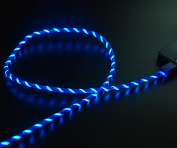 This Lightning Charging Cable Glows with the Flow