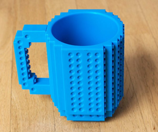Build-on Brick Mug: Caffeinate and Create!