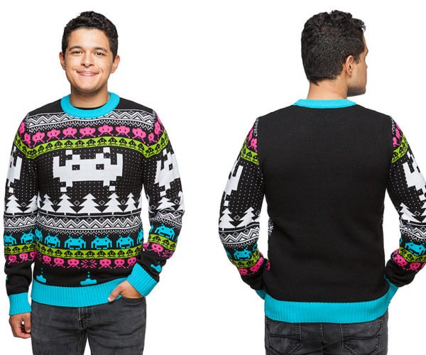 Space Invaders Holiday Sweater: Pew Pew Pew!