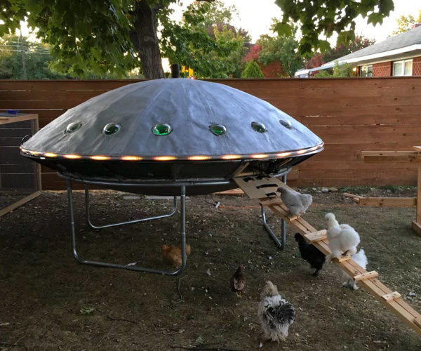 UFO-shaped Chicken Coop Ready for Lift-off