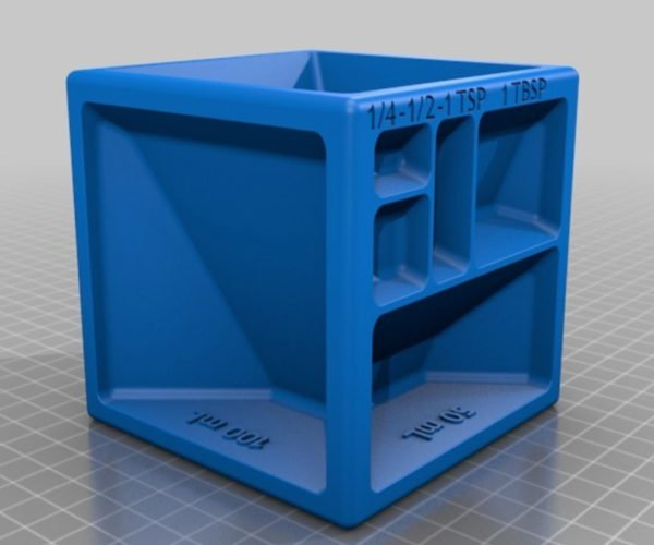 This 3D Printed Measuring Cube Should Be in Every Kitchen