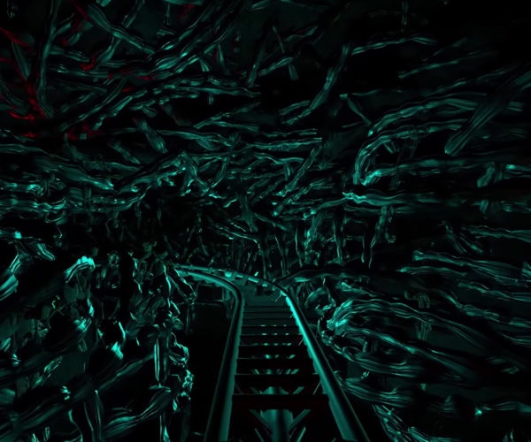 Someone Built a 15-Minute-long Alien Roller Coaster In a Sim Game