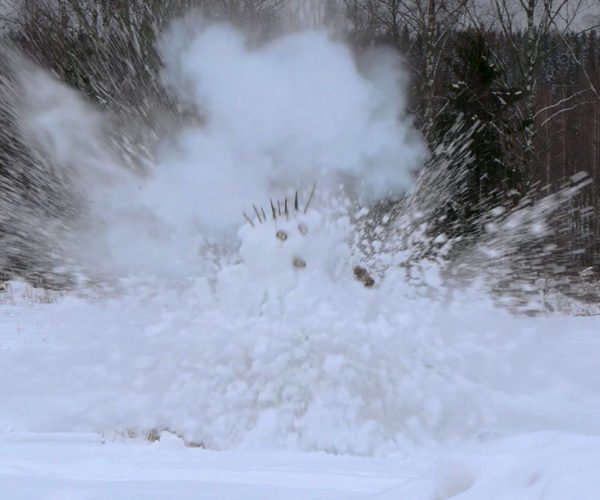 Snowmen Blown up with Gas Bombs: Frosty the Bomberman
