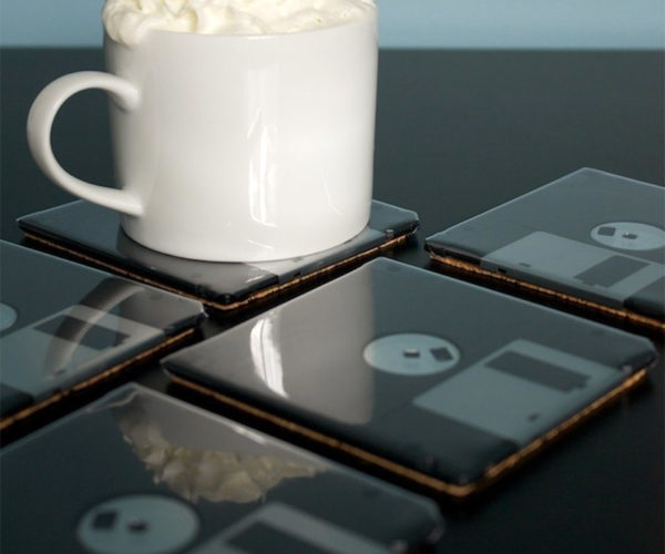 Floppy Disk Coasters: Protect Your Tabletop and Your Data