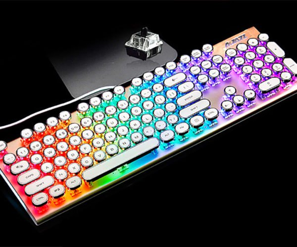 This Colorful LED Rounded-key Keyboard Looks Sweet