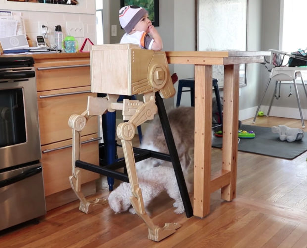 Dad Builds Kid Awesome Star Wars AT-ST High Chair