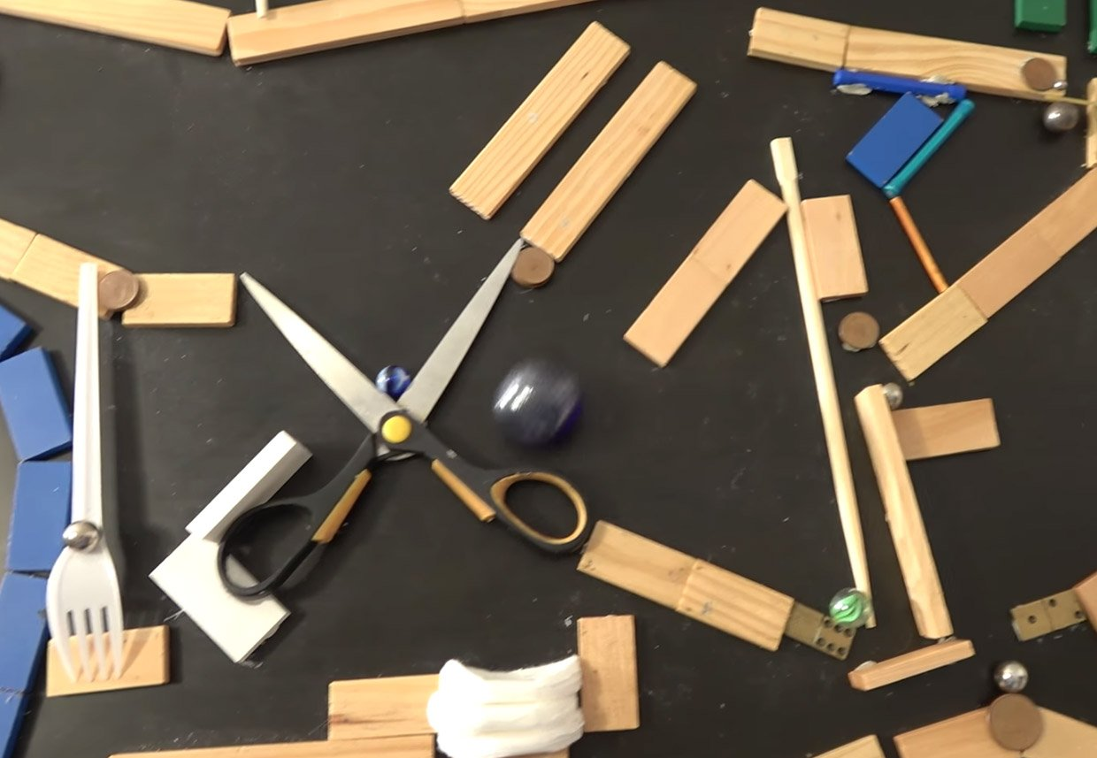 Check Out This Minute And A Half Run Of Kaplamino S Blue Marble 2d Rube Goldberg Style Machine Another Reason I Won T Be Attempting Something Like