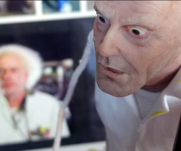 Great Scott! Watch an Artist Sculpt a Tiny Doc Brown Sculpture from Scratch