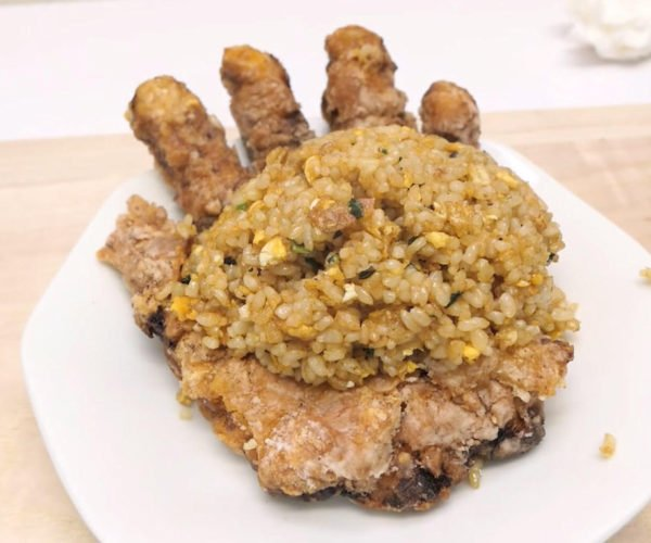 Guy Makes Hand from Fried Meat: Edible Facepalm