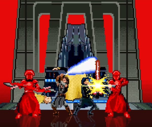 The Last Jedi Lightsaber Battle in 16-Bit
