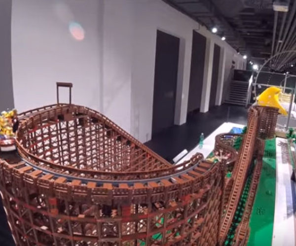 This 90,000-Piece LEGO Roller Coaster Is Intense