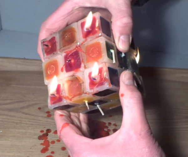 This Rubik's Cube Candle Is Only for True Masochists