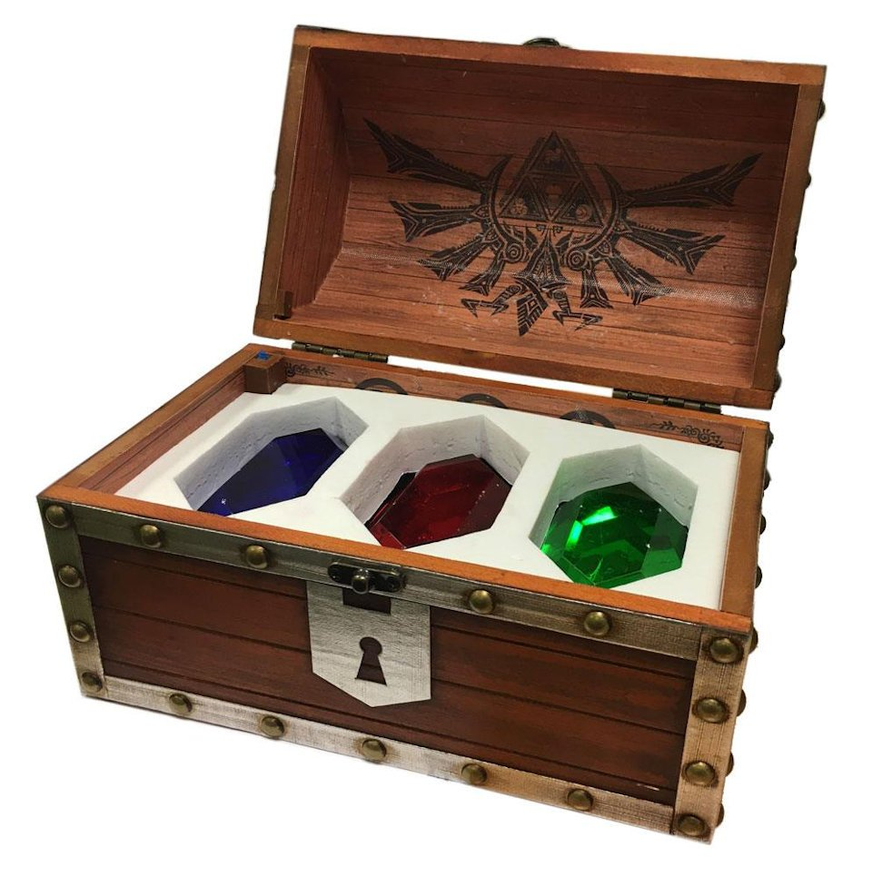 Legend of zelda treasure chest comes loaded with colorful rupees the legend of zelda rupee chest is pretty sweet whenever you open it youll feel the thrill that link feels when discovering a treasure publicscrutiny Image collections