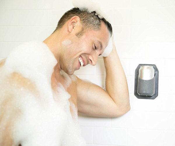 Sudski Shower Beer Can Holder: Scrub up and Drink up!