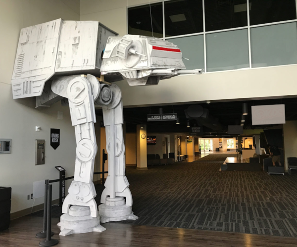 17-Foot-Tall AT-AT Invades a Church