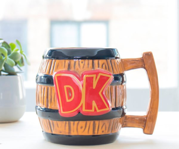 Donkey Kong Barrel Coffee Mug: How High on Caffeine Can You Get?