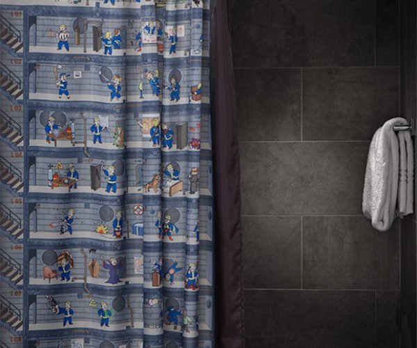 Fallout 4 Shower Curtain Makes Showering S.P.E.C.I.A.L.