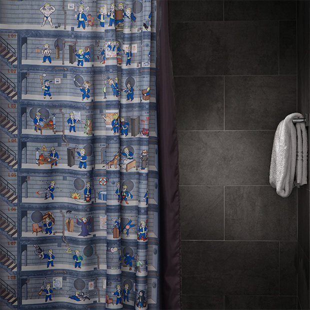 Anyway This Fallout 4 Shower Curtain Is The Next Best Thing Admit It You Need In Your Vault Bathroom Like Now