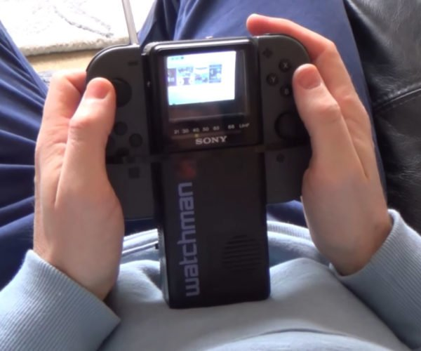 Guy Hacks Nintendo Switch to Work on an 80s Sony Watchman