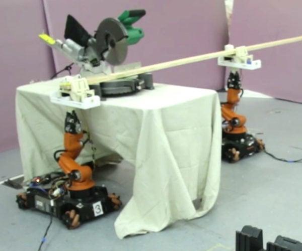 Robotic Carpenters Use Power Tools to Build Furniture