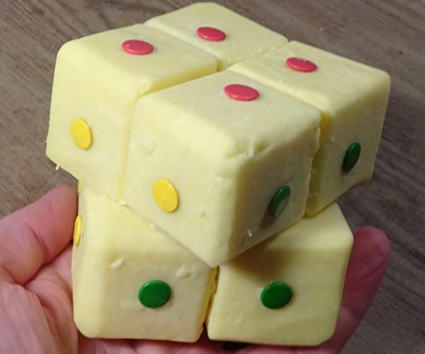 2 X 2 Rubik's Cube Made out of Cheddar Cheese: Solve, Then Eat