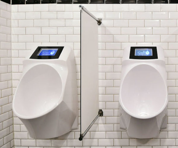 These Urinals Play Video Ads While You Pee