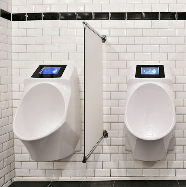 Urinals with ads...!