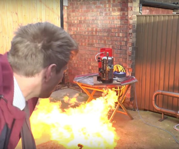Colin Furze Builds Alexa Voice-activated Flamethrower