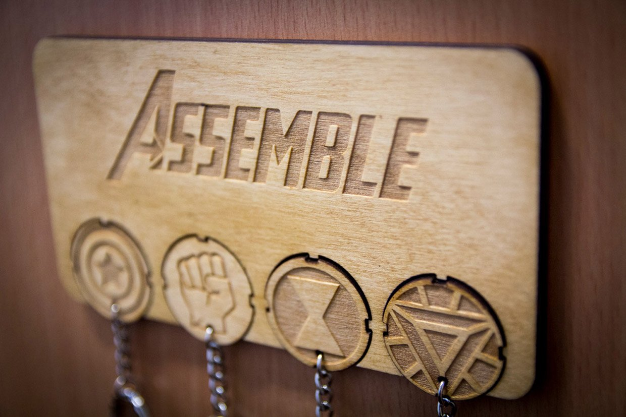 Assemble Your Keys With This Avengers Inspired Key Rack
