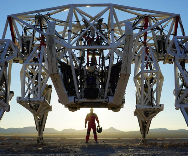 This 15-Foot Tall Exoskeleton is Made for Racing, But Is Still Taking Baby Steps