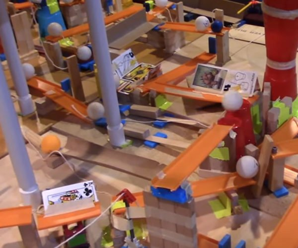 This Crazy Rube Goldberg Machine Is a Tape Dispenser