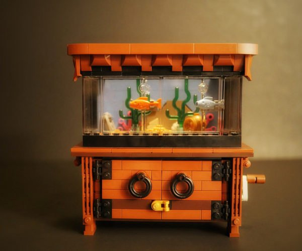 The LEGO Clockwork Aquarium Is Filled with Cranky Fish