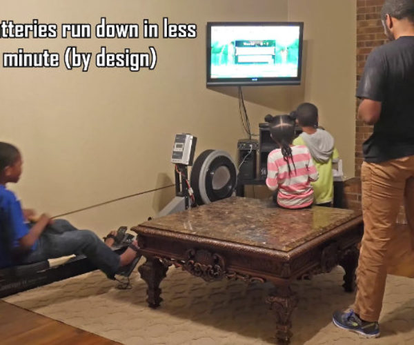 Guy Mods Rowing Machine, Forcing Kids to Exercise While Playing Video Games