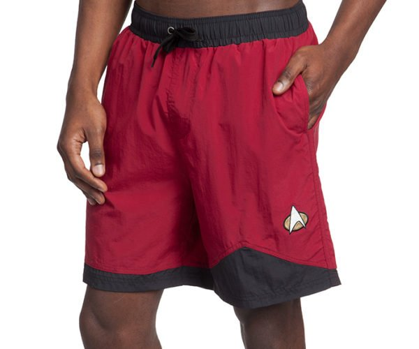 Star Trek TNG Swim Trunks: Redshorts Get Eaten by Sharks