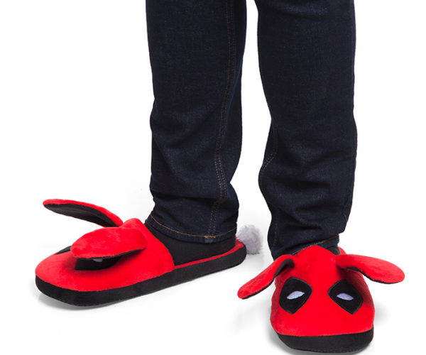 Deadpool Fuzzy Bunny Slippers: The Merc with The Ears