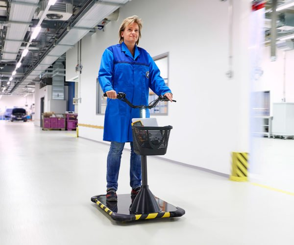 BMW Personal Movers Zip Around Manufacturing Plants