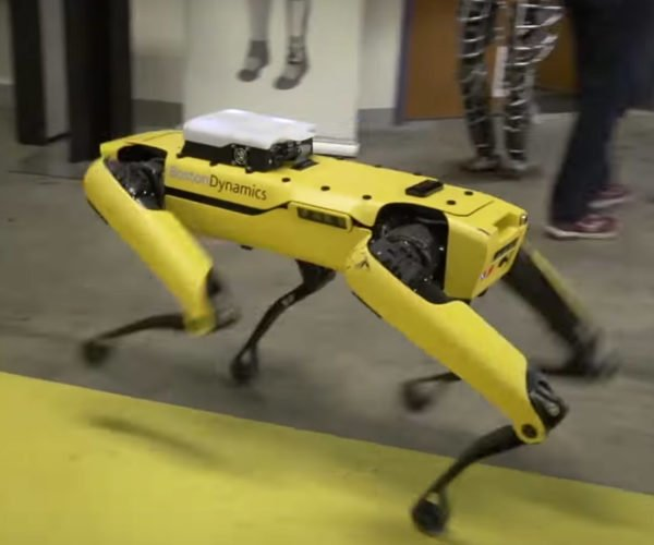 Watch Boston Dynamics' SpotMini Navigate Around the Office