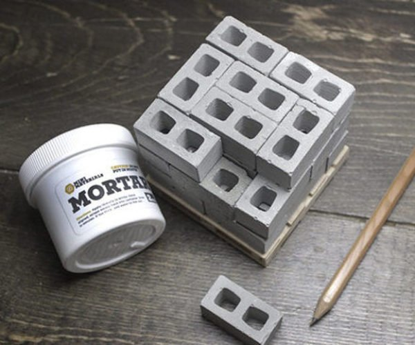 These Tiny Cinder Blocks Let You Construct Buildings at Your Desk