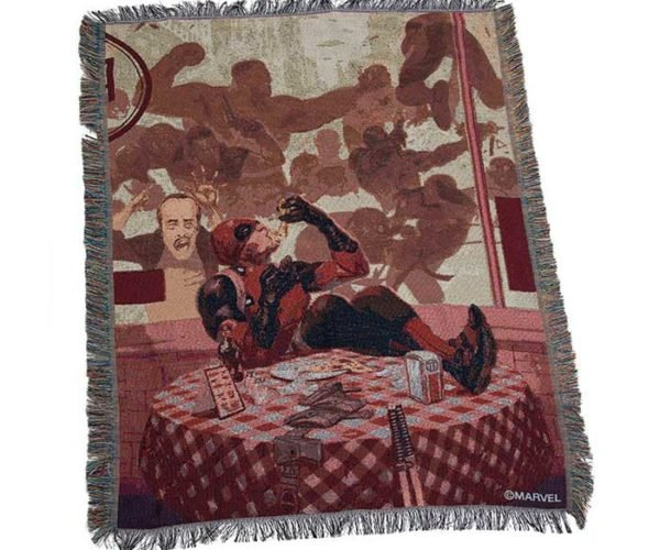 Deadpool Tapestry Throw Offers Maximum Warmness