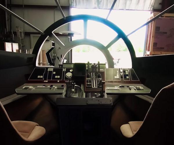Fans Build Full-Size Millennium Falcon Cockpit