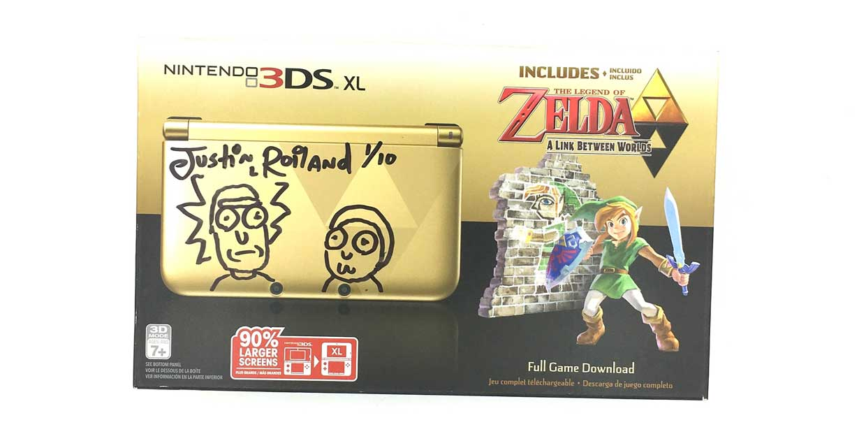 Rick and Morty Creator Selling Customized Legend of Zelda 3DS