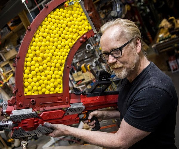 Adam Savage Modifies a NERF Blaster, Gives It 1,000 Shot Capacity