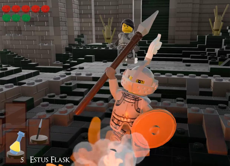 Fan Recreates Dark Souls in LEGO Worlds